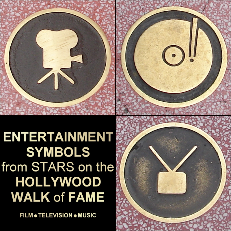 hollywood walk of fame symbols by fantasystock on deviantart