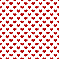 Transparent Red Hearts Tile by FantasyStock