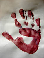 Child's Hand Print by FantasyStock