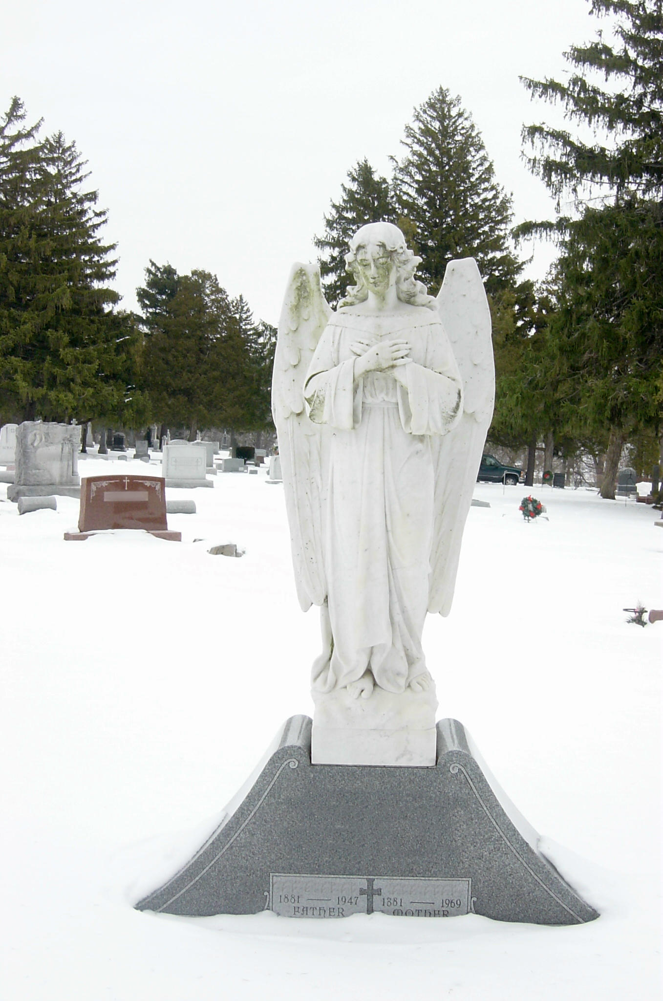 Angel Gravestone Statue by FantasyStock