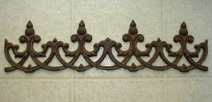 Rusted Bronze Wall Fleur
