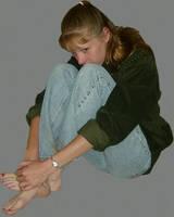 Danielle Fetal Pose in Denim 2 by FantasyStock
