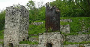 Overgrown Factory Stone Ruins
