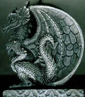 European Dragon Profile Relief by FantasyStock