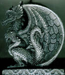 European Dragon Profile Relief
