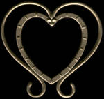 Gold Heart-Shaped Photo Frame by FantasyStock