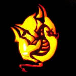Carved Illuminated Fire Dragon by FantasyStock