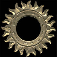 Gold Sun-Shaped Photo Frame by FantasyStock