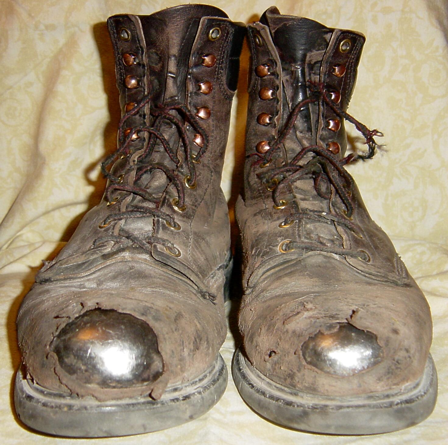 Tattered Old Work Boots