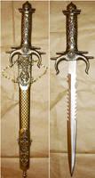 Gold Fantasy Sword + Sheath