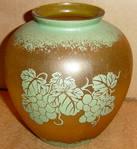 Amber Glass Grapes Vase Prop