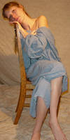 Danielle Blue Dress on Chair