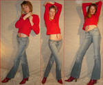 Danielle 3 Standing Red Poses