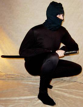 Kelsey Crouched Ninja Pose 1