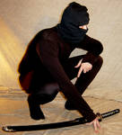 Kelsey Crouched Ninja Pose 3