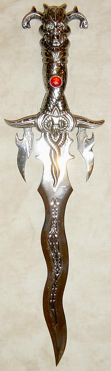 Fantasy Demon Dagger with Ruby by FantasyStock