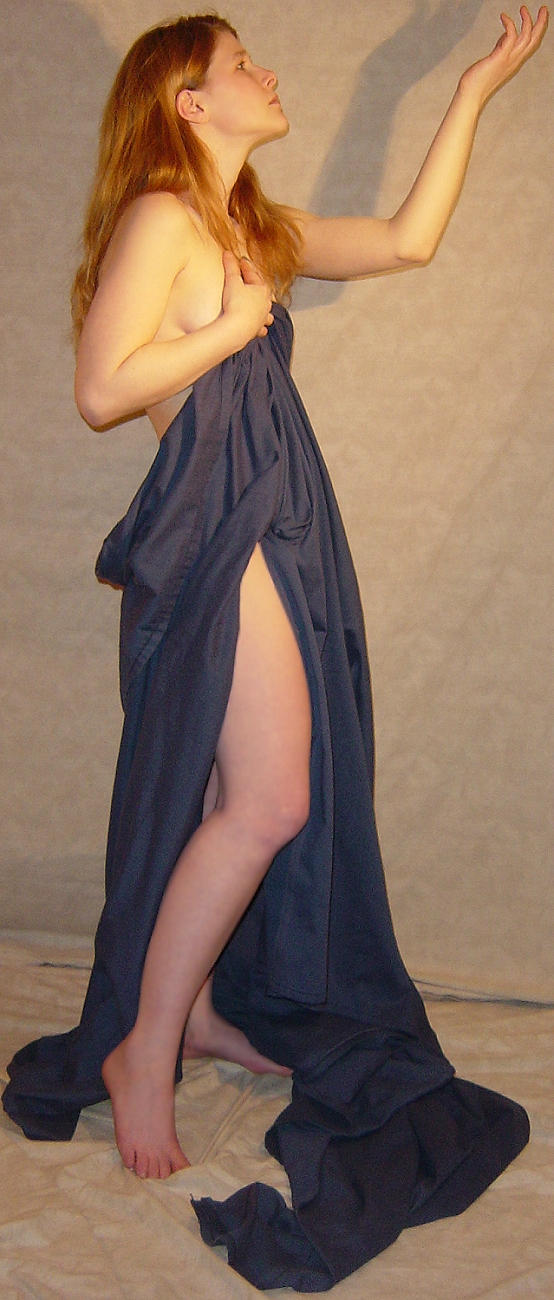 Jodi Dark Blue Drape Pose 4 by FantasyStock