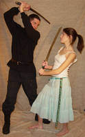 Ryan + Ali Katana Fighters by FantasyStock