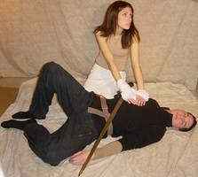 Ali + Ryan Divine Healing Pose by FantasyStock