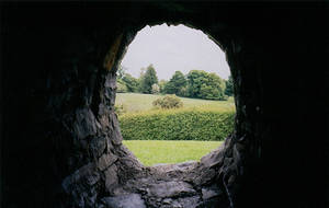 NewGrange Stone Hut Window by FantasyStock