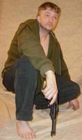 Grey Vigilante with Firearms 2 by FantasyStock