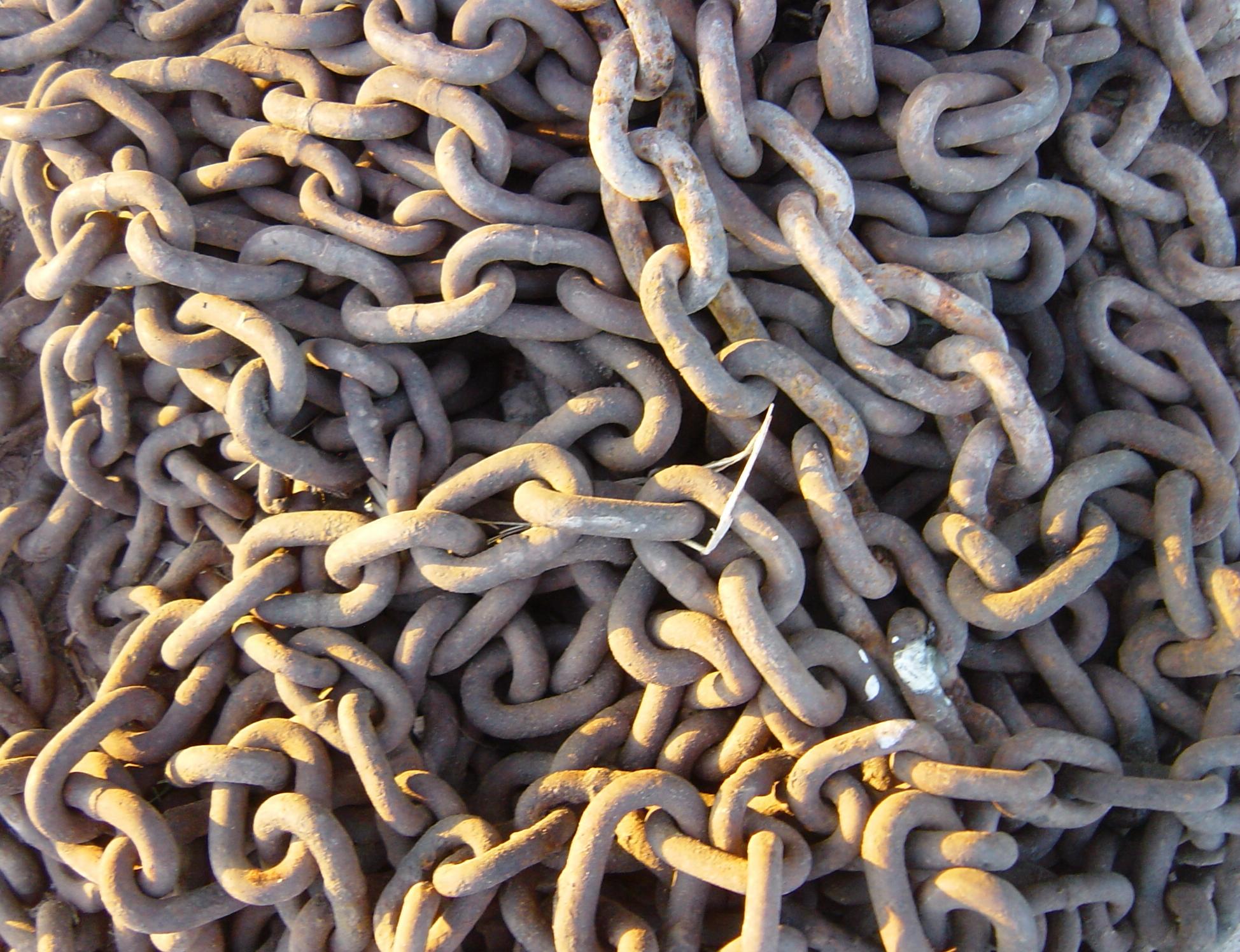 Rusty Metallic Chain Texture