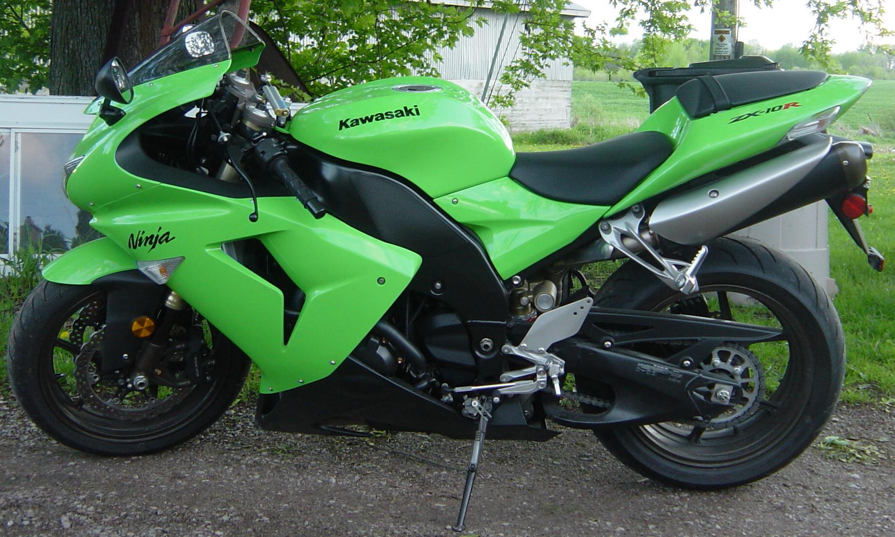 Kawasaki Ninja Lime Motorcycle by FantasyStock on DeviantArt