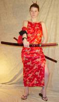 Jodi Red Silk Dress Katana 4