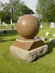 Cemetery Red Orb Gravestone