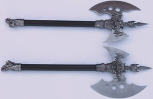 Conjal's Fantasy Twin Axes by FantasyStock