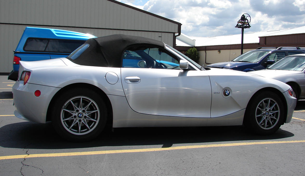 White Bmw Z4 Convertible Car 1 By Fantasystock On Deviantart