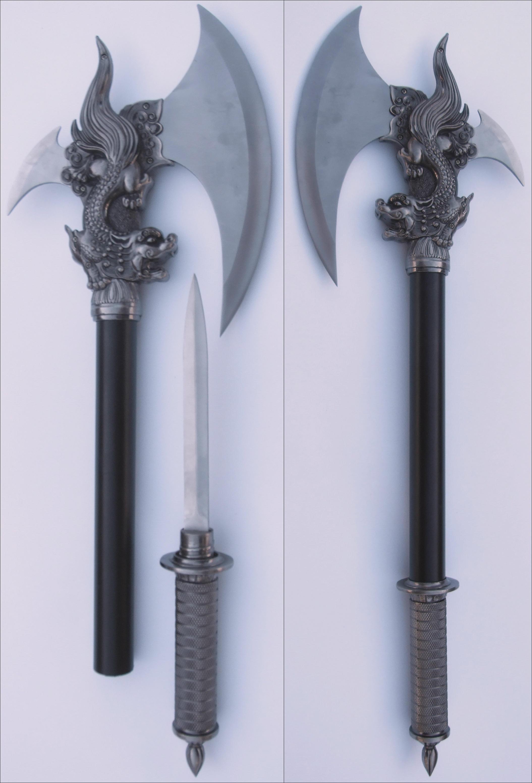 Conjal's Dragon Axes + Blade by FantasyStock