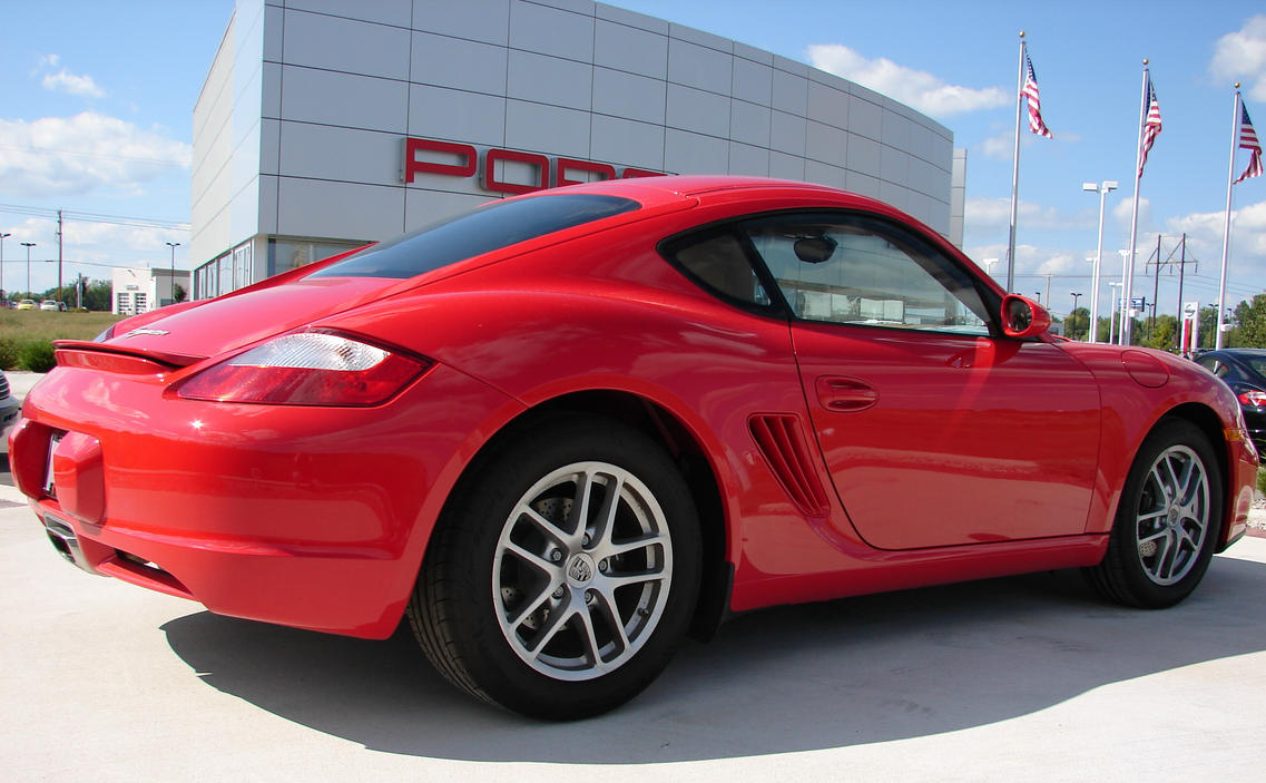 Red Porsche Cayman Car 1 by FantasyStock