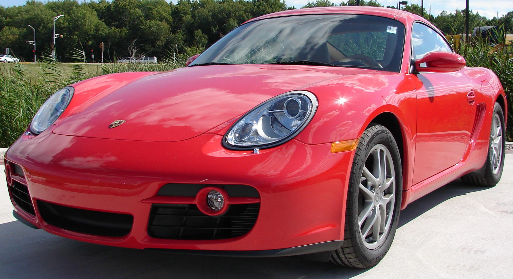 Red Porsche Car Red Porsche Cayman Car 4
