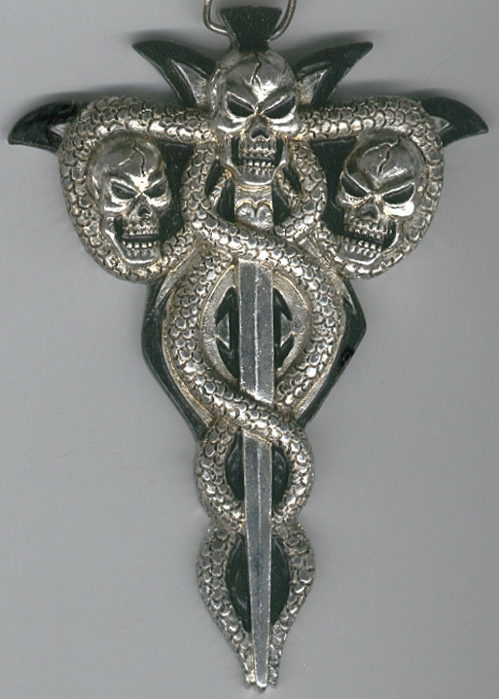 Evil Undead Serpent Amulet by FantasyStock