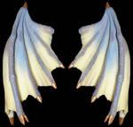 Blue Ivory Dragon Talons Wings