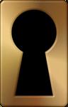 Big Copper Keyhole PNG Clipart