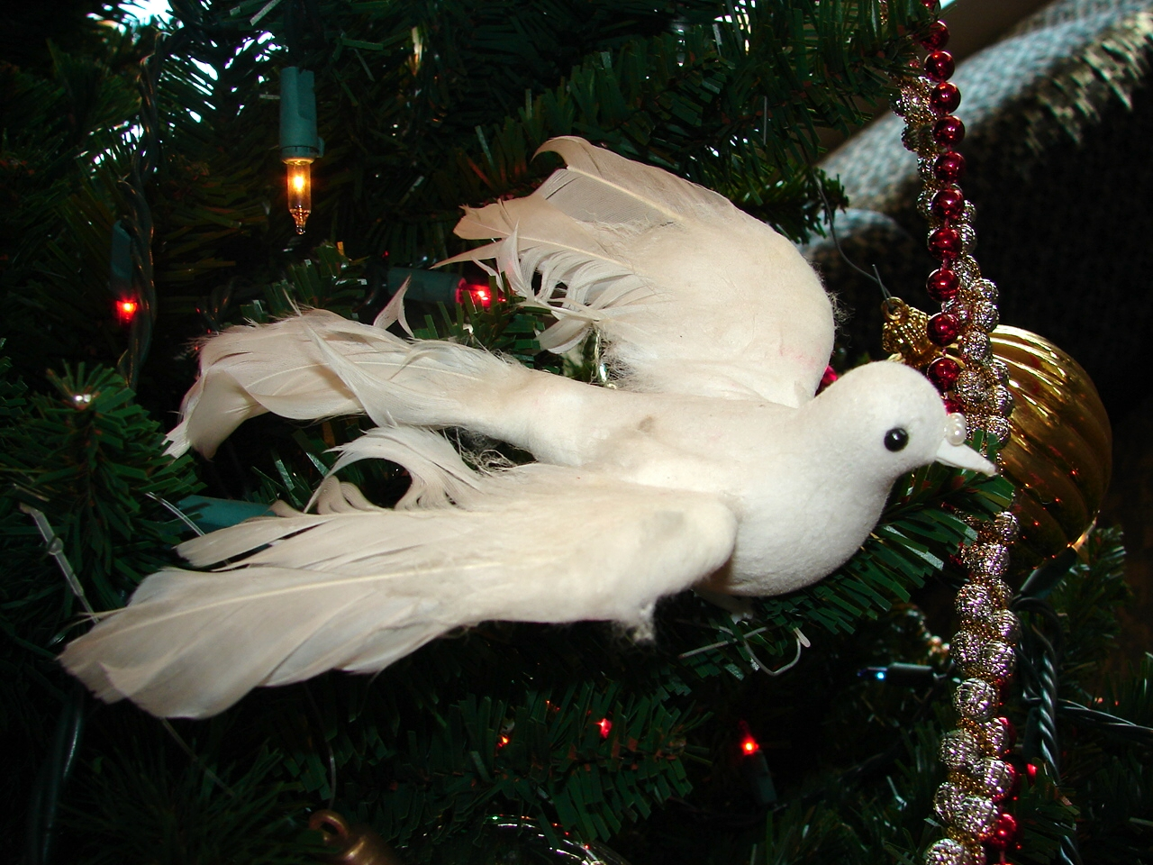 White dove ornament -  White Dove Of Peace Ornament By Fantasystock