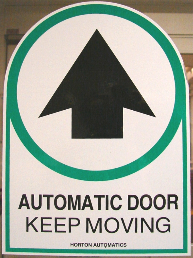 Automatic door sign by fantasystock on deviantart