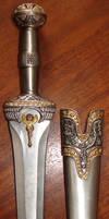 Roman Dagger with Gold Trim 2