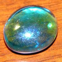 Tumbled Glass Aquamarine Jewel by FantasyStock