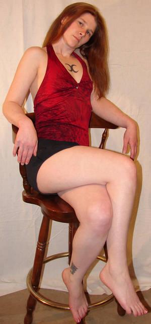 Jodi Sitting on a Bar Chair 1