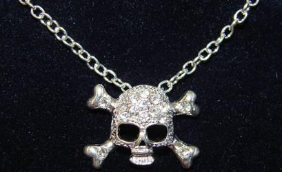 Crystal Silver Jolly Roger by FantasyStock