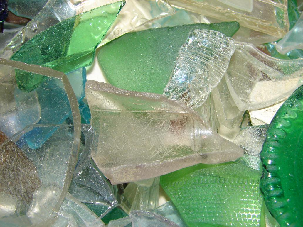 Broken Sea Glass Macro Texture by FantasyStock