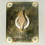 Master On Off Brass Switch
