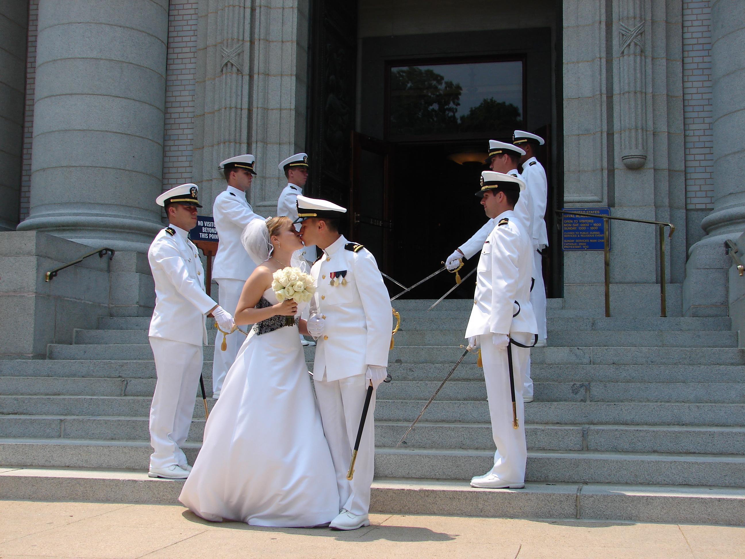Navy Wedding Sword Archers 5