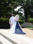 Navy Ensign with His Bride 1