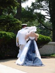 Navy Ensign with His Bride 2 by FantasyStock