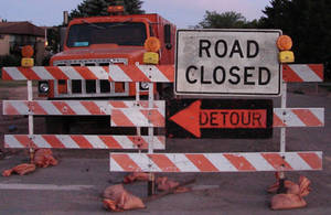 Road Closed Detour Signs 3 by FantasyStock