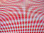 Red White Checked Tablecloth
